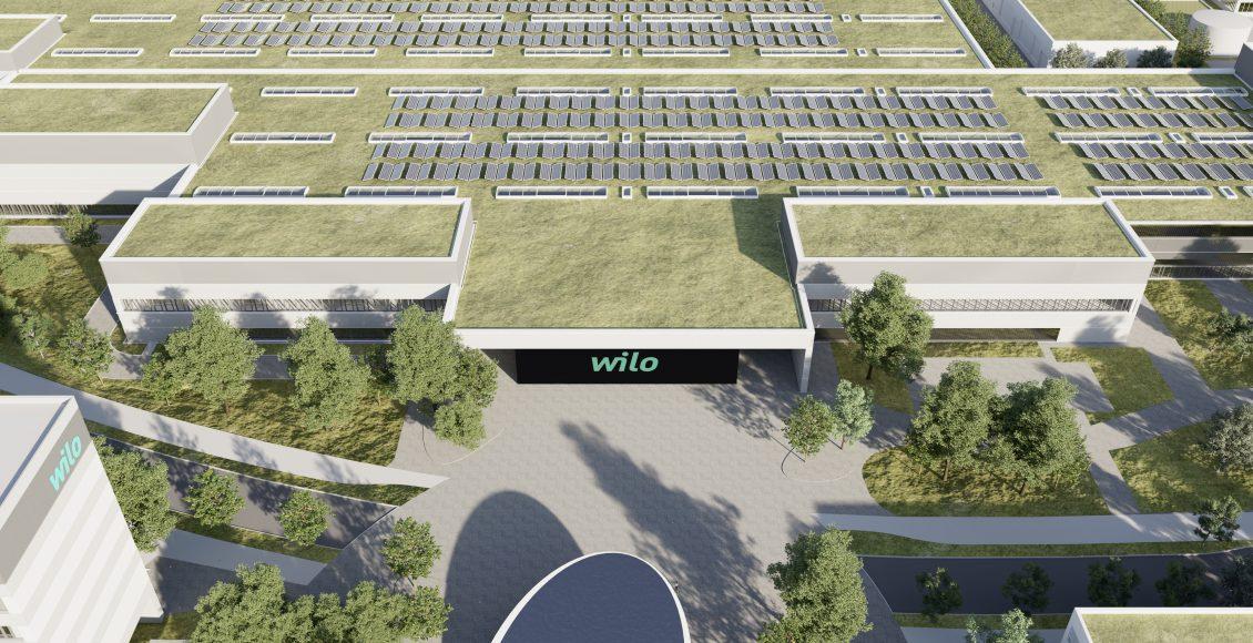 WiloPark Dortmund Factory South DE-DO-A – LED wall with Wilo Logo