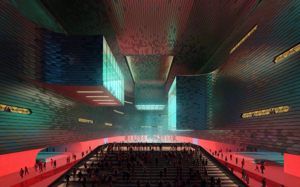 08 ZHA Shenzhen Science and Technology Museum render by Slashcube