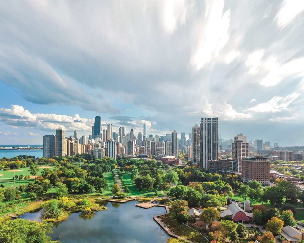 WILO Chicago View With A Park