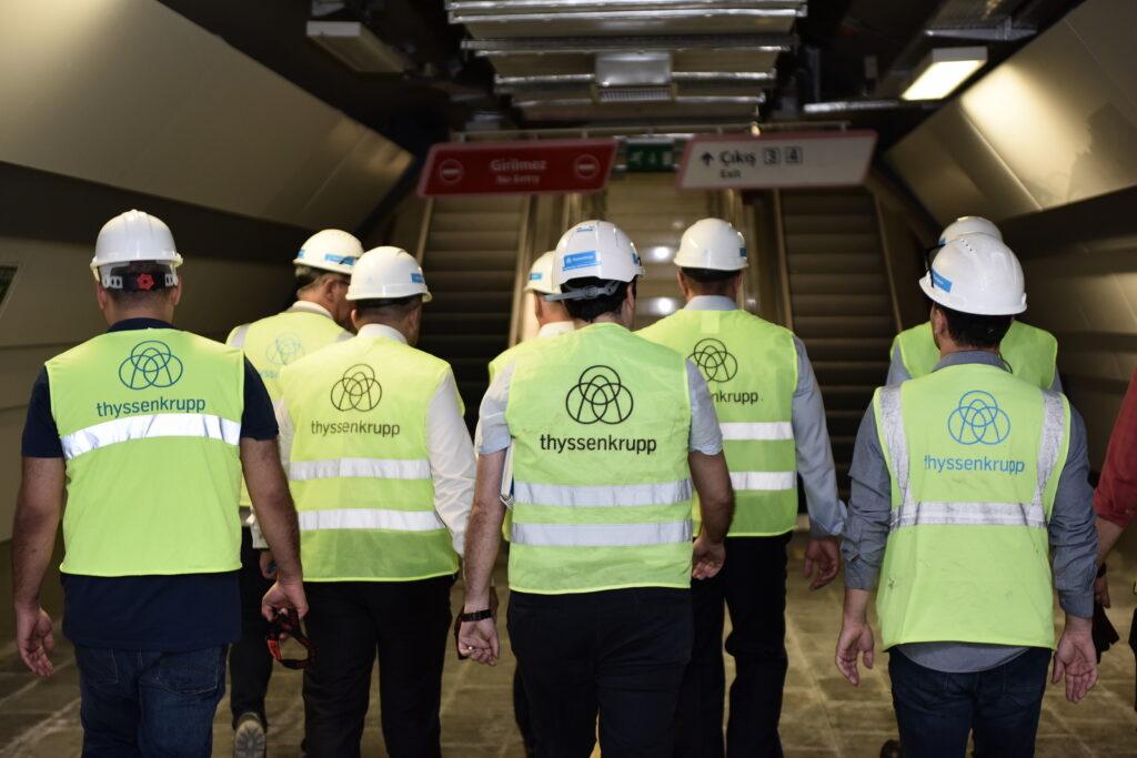 metro projeleri thyssenkrupp Asansor
