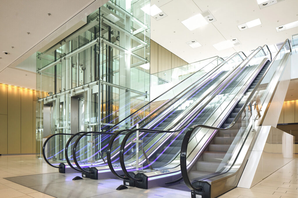 Essen HQ escalator and elevator reference